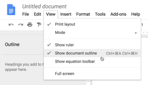 Document Outline in Google Docs
