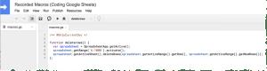 Recorded Google Apps Script