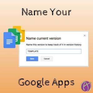 Google Docs: Name This Version