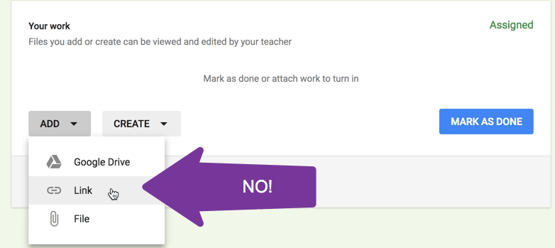 can not add link to a document you do not own