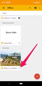 Slides App Three Dots