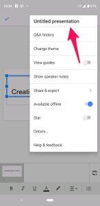 Naming Slides in App