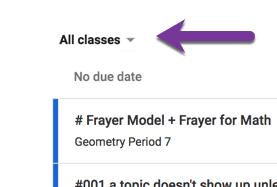 Tiny triangle all classes