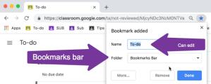Bookmarks bar