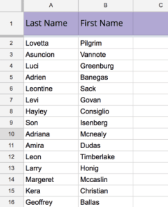 paste student roster