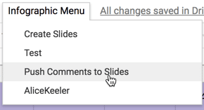Push Comments to Slides