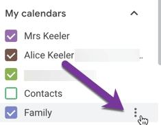 3 dots calendar