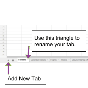 Adding New Tabs in Google Sheets