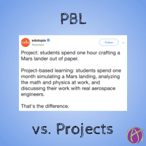 Project or PBL via @edutopia
