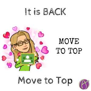 It is back UP! Move to Top in Google Classroom