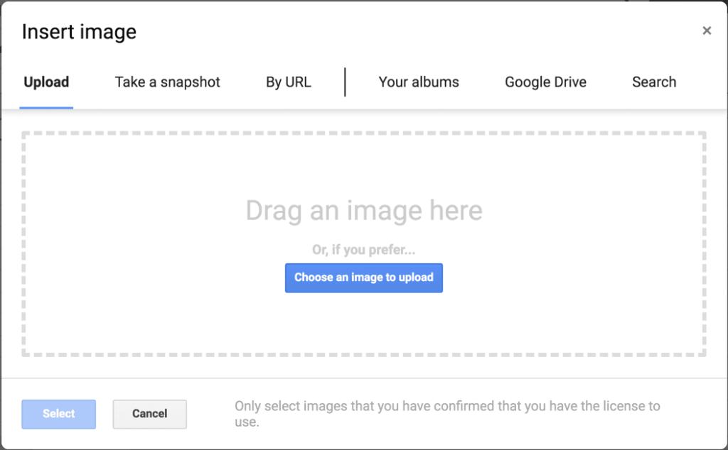 Image upload box