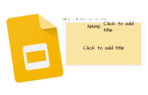 Add placeholders in Google Slides