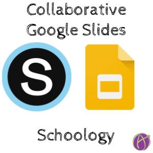Make collaborative google slides in schoology