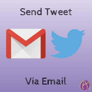 Send a tweet via Email