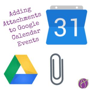 Attaching Files to Google Calendar Event