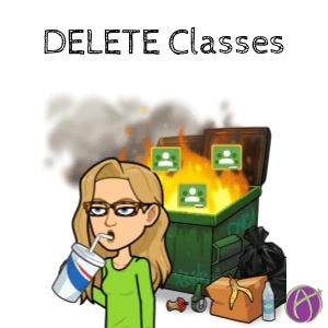 Delete Google Classroom Classes