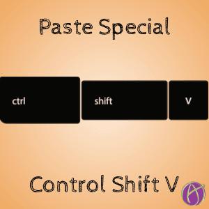 Control Shift V Paste Special