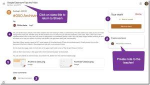 Assignment Screen in Google Classroom