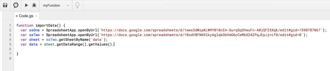 Google Apps Script Two Spreadsheets
