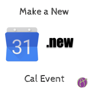 Make a new calendar event