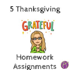 5 Thanksgiving Homework Assignments
