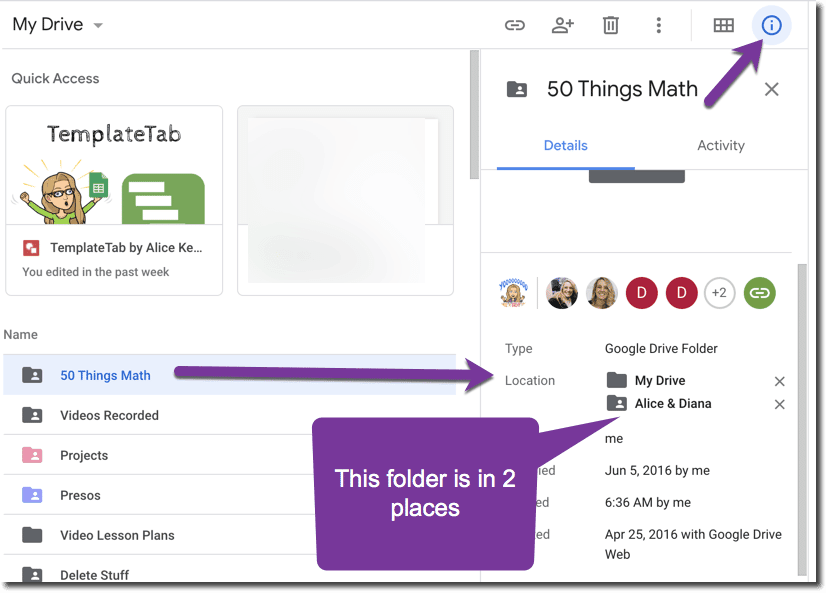 Organizing my Google Drive folder into a folder.