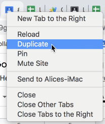 Duplicate the Chrome tab
