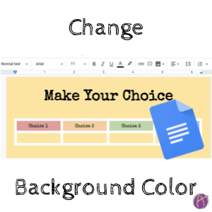 Change the background color GOogle DOcs