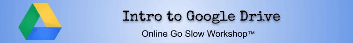 Intro to Google Drive online workshop