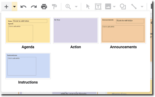 Color coded layouts.