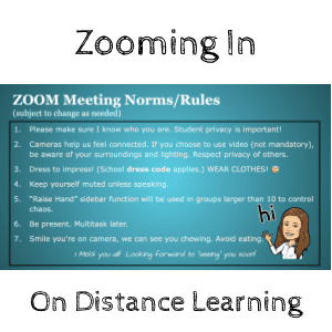 zooming in on distance learning