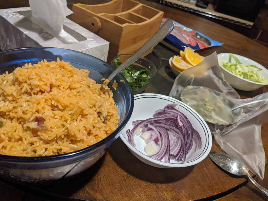 Mexican rice made by Alice Keeler