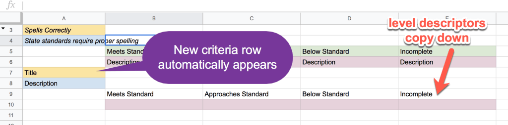 New criteria row automatically appears