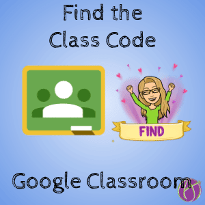 Find the Class Code in Google Classroom