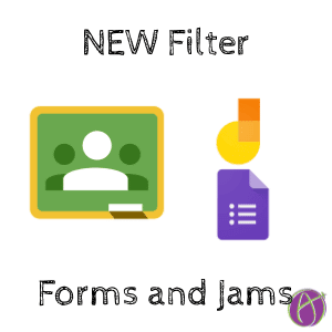 filter for google forms and google jamboard jams in google classroom