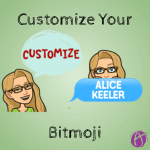 Custom Text with Bitmoji