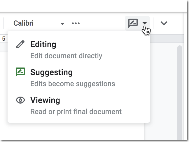 Click on suggesting mode to switch to editing mode.
