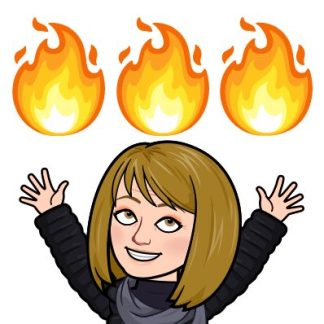 My Bitmoji that says my finds are on fire!