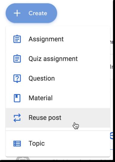 Create button reuse post