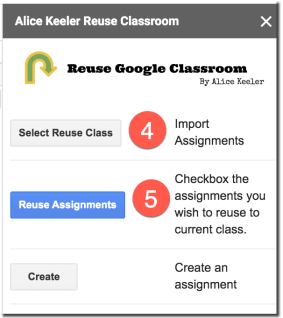 Import the class assignments and then reuse assignments.