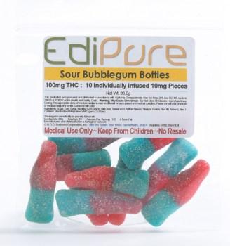 EdiPureSourBubblegumbottles