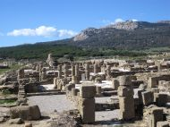 "The ancient ruins of the Roman settlement ""Baelo Claudia"" in Bolonia."