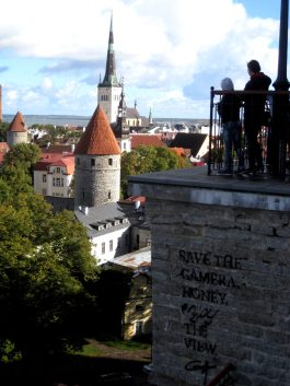 """Save the camera, honey. Enjoy the view."" - View from Toompea hill"