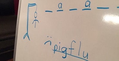 "Pig flu . . ."