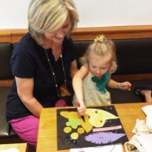 Art activity at Bambino's and Order Up in San Antonio, Texas