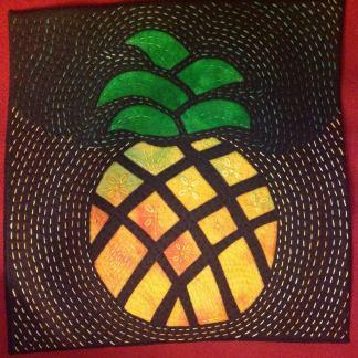 Mock Mola Pineapple, Black