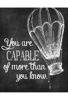 you are capeable