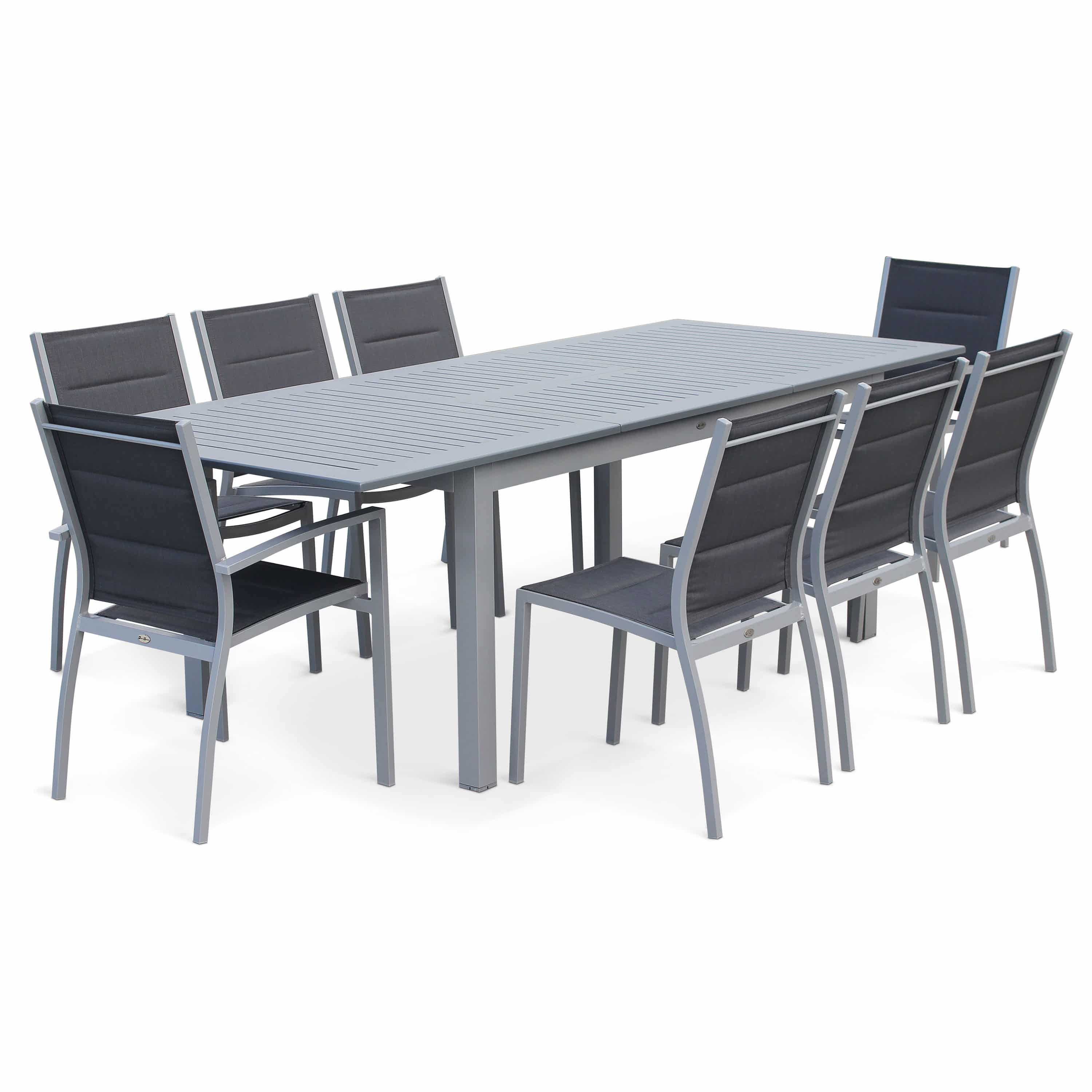 Outdoor Table And Chair Set Chicago 8 10 Seater 175 245cm Extending Aluminium Dining Set Exists In 4 Colours
