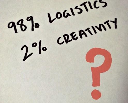 creative logistics from Alice Sheridan blog