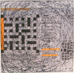 Alice Sheridan 'Trappings V' etching with chine collée